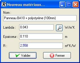 Contrib : Calcul resistance Thermique R facile