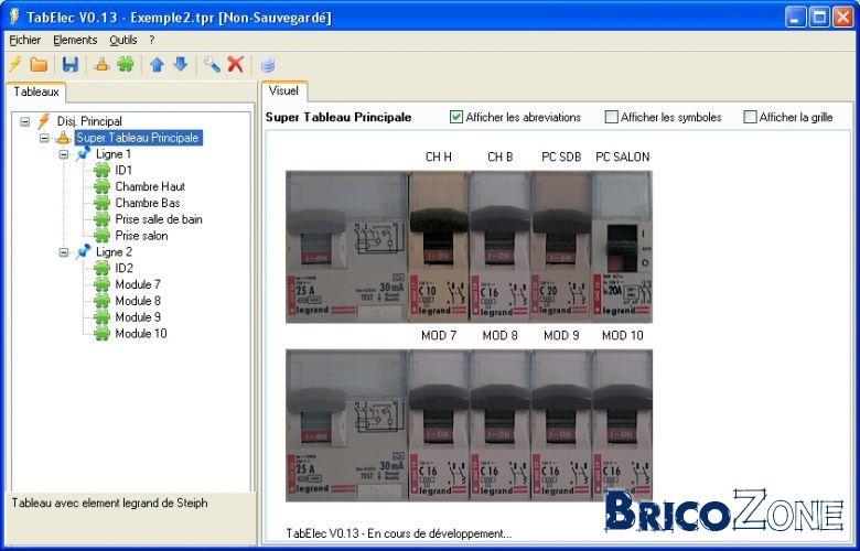 Beliebt Projet] Création logiciel tableau électrique TE54