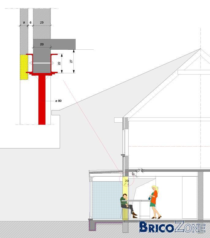 Extension cuisine - ouverture d'un mur