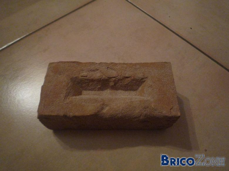 Sens de pose pour brique de parement