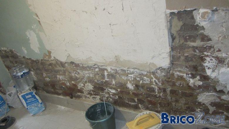 Rénovation buanderie et traitement mur légèrement humide...