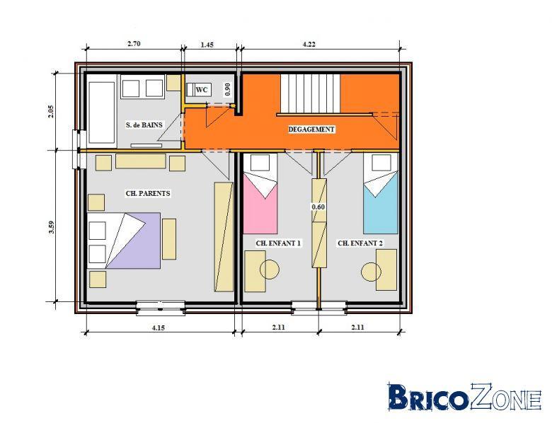 Dimensions de mes chambres. Trop petites ?