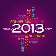 Au revoir 2012, Bonjour 2013..