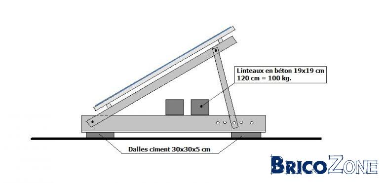 Fixations panneaux photovolta ques sur toit plat for Pose de panneaux solaires sur toiture