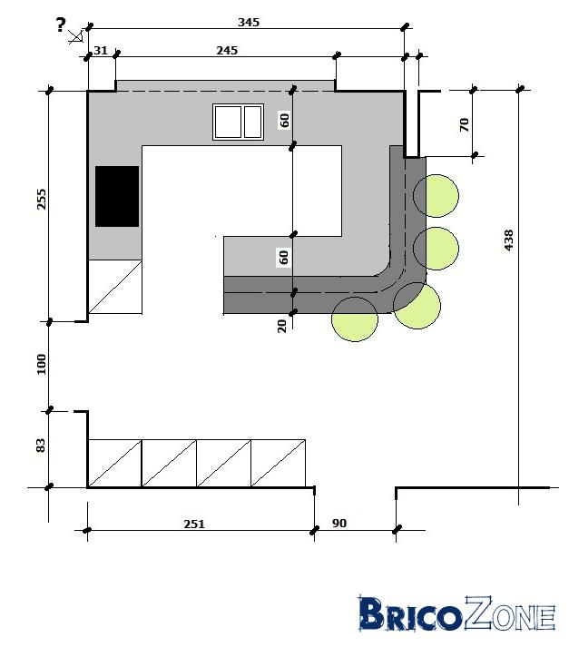 Am nagement cuisine nouvelle construction for Plan amenagement cuisine 10m2