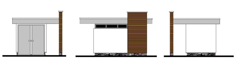 abri de jardin loisir en dur avec toiture plate et bardage en c dre. Black Bedroom Furniture Sets. Home Design Ideas