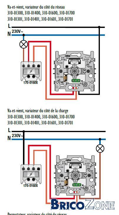 comment placer un variateur si deux interrupteurs pour une. Black Bedroom Furniture Sets. Home Design Ideas