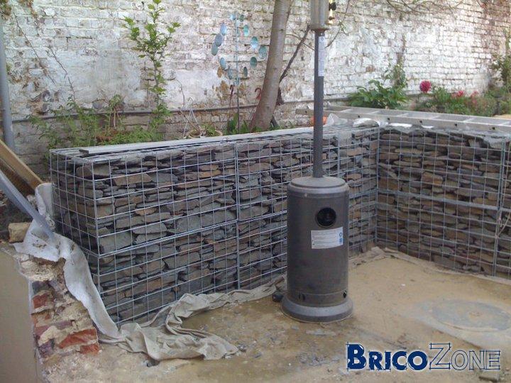 Mur grillage cailloux stunning clture muret beton grillage with mur grillage cailloux elegant - Mur en cailloux ...