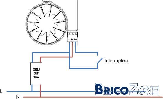 Raccordement ventilateur de sdb page 2 for Installer un aerateur salle de bain