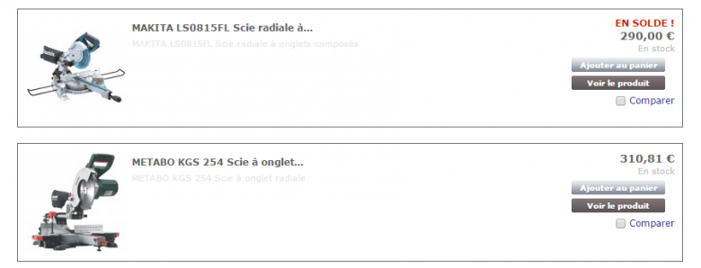 J'ai besoin d'une scie � onglet radiale ...