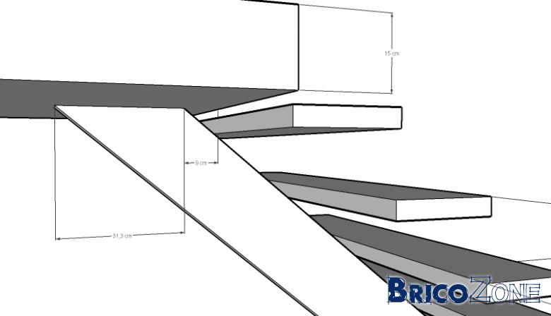 a l 39 aide escalier limon central. Black Bedroom Furniture Sets. Home Design Ideas