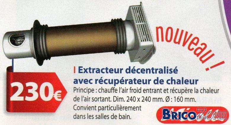 Vmc2 ou extracteurs bi directionnels for Extracteur pour salle de bain