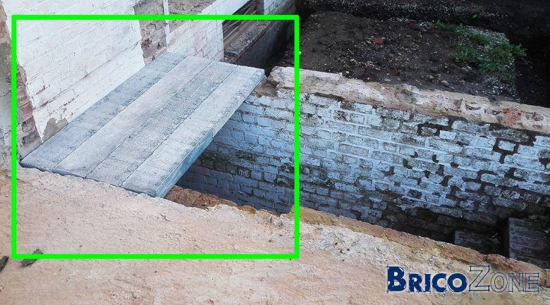 Prolongement terrasse/escalier avec linteaux // Charges !