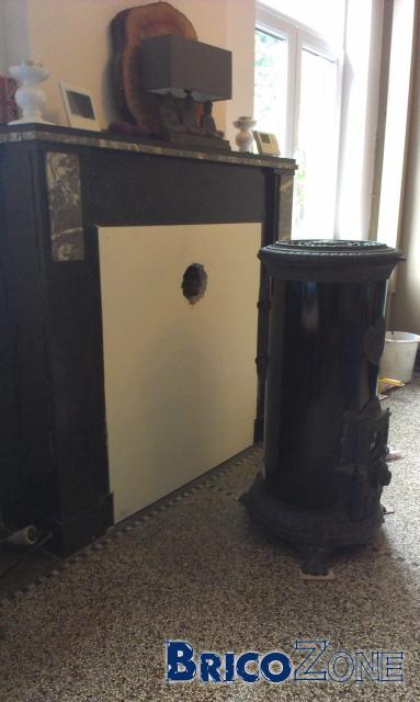 besoin conseil raccordement po le bois chemin e. Black Bedroom Furniture Sets. Home Design Ideas