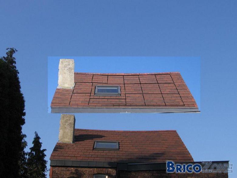 Réduction hauteur cheminée pour placement PV