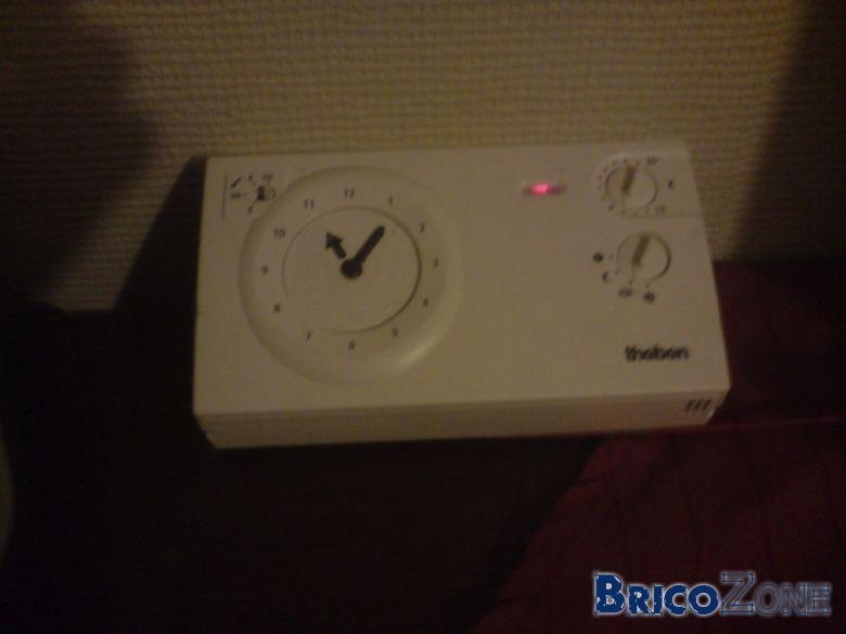Thermostat d'ambiance, reglage de plusieurs zones