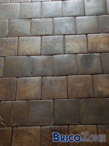 Favori revetement sol chambre en paves de bois de bout KW09