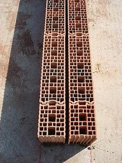blocs terre cuite � encoche/emboitement