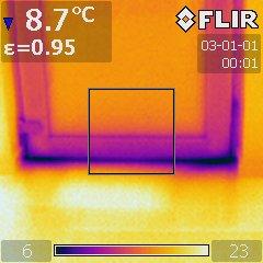 Thermographie de chassis de fenêtre: est-ce normal