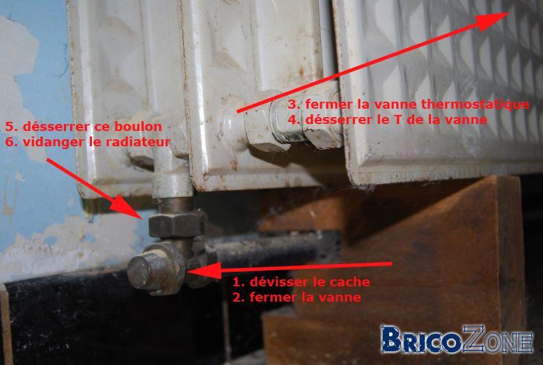 Enlever un radiateur - Besoin de votre aide