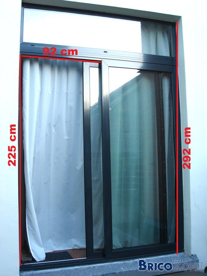 Moustiquaire porte fenetre coulissante moustiquaire pour for Moustiquaire coulissante pour porte fenetre