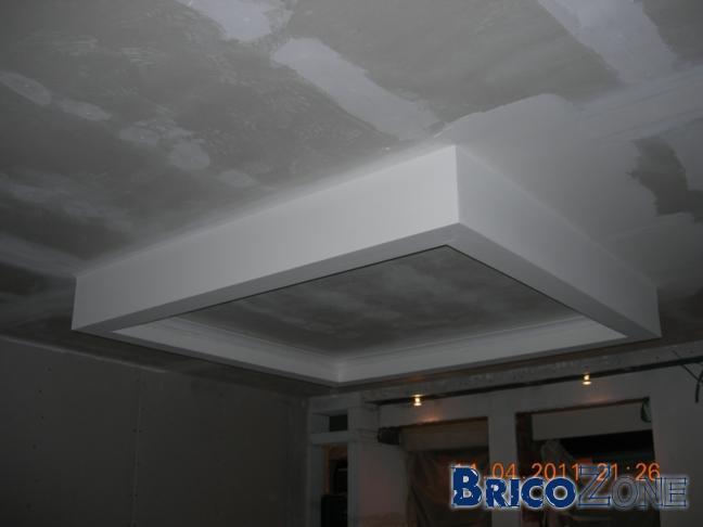 R�alisation d'un faux plafond