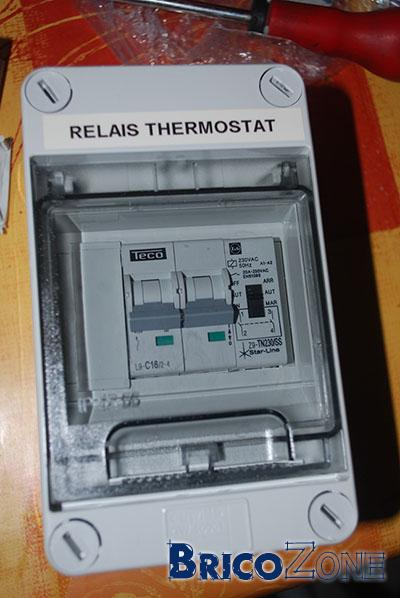 Branchement d'un thermostat