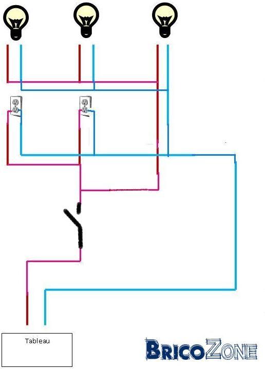 Assez interrupteur pour plusieurs points lumineux QX32