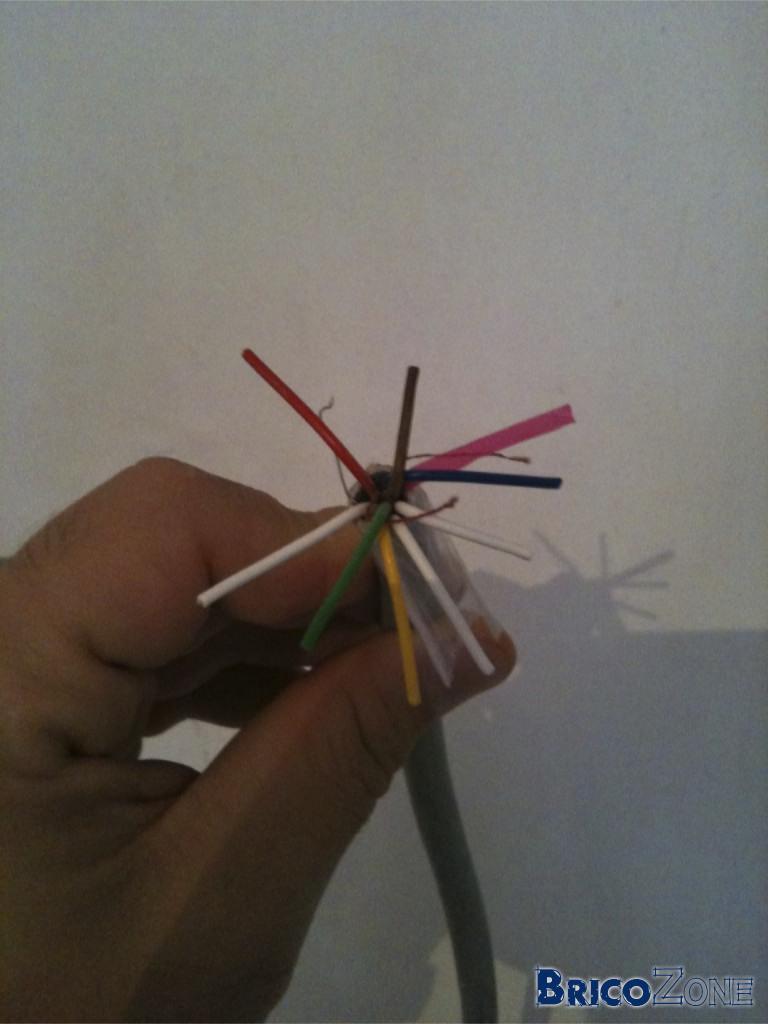 Longueur cable RVV2 et gâche électrique