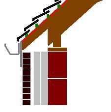Lien isolant entre mur et toiture