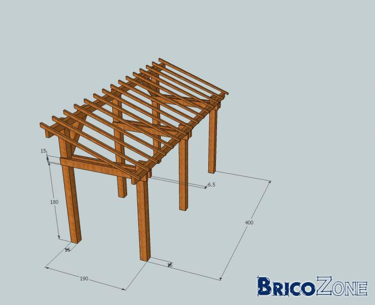 Construction d 39 un abris question charpente - Fabrication d un abri de jardin en bois ...