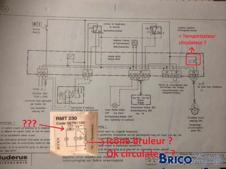 Branchement thermostat