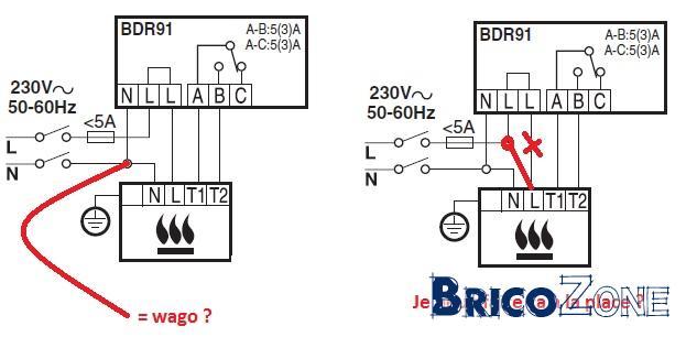 aquastat wiring diagram branchement du relais bdr91 de thermostat honeywell cm921  branchement du relais bdr91 de thermostat honeywell cm921