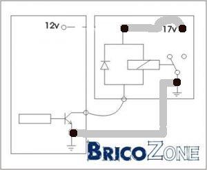 Connecter une sortie à transistor à collecteur ouvert à un relais