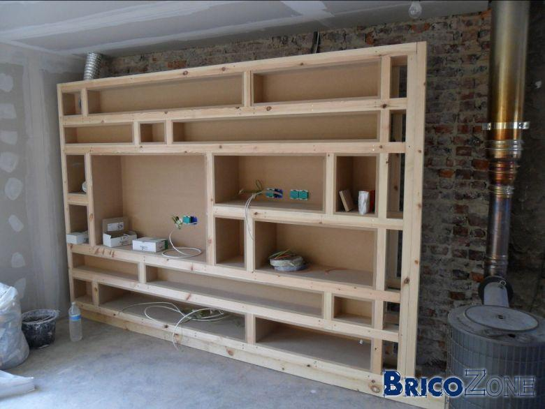 construire une bibliotheque en mdf. Black Bedroom Furniture Sets. Home Design Ideas