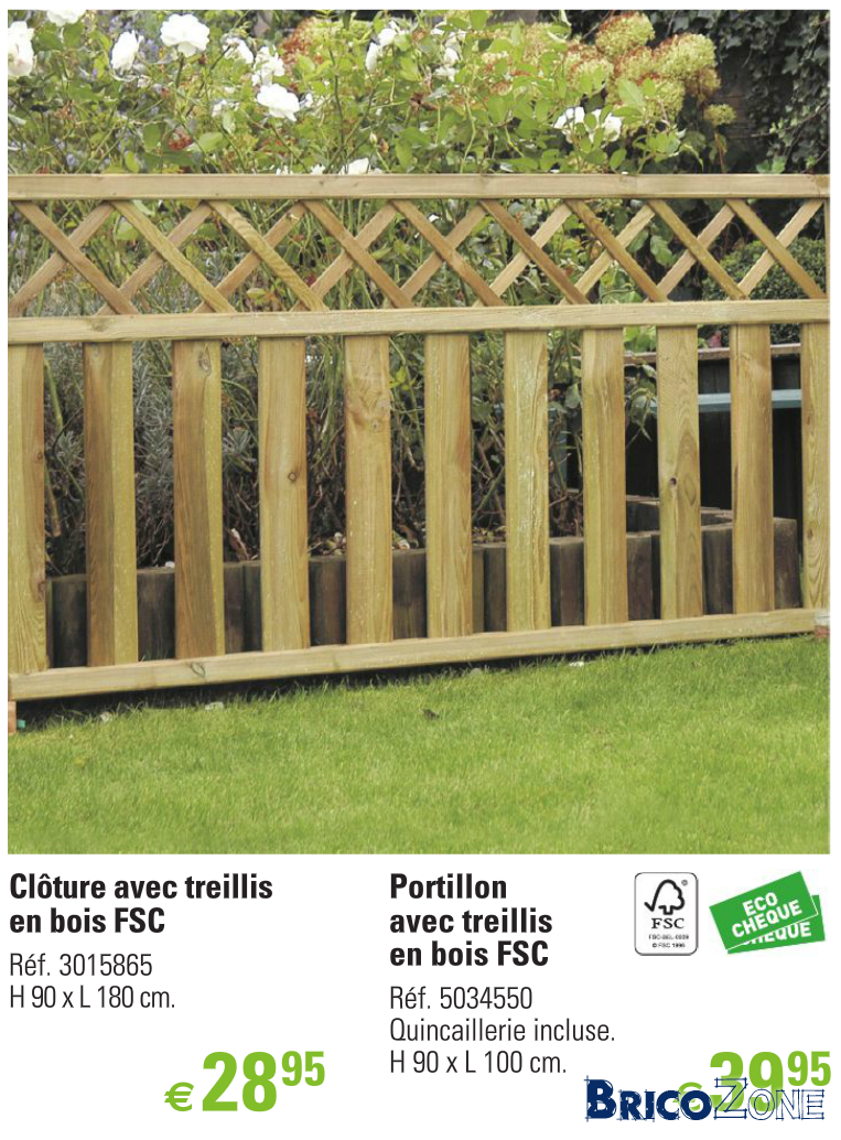 Pose cloture en bois
