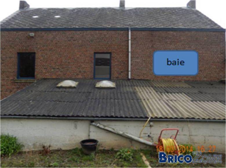 Accès chantier sur toiture plaques ondulées