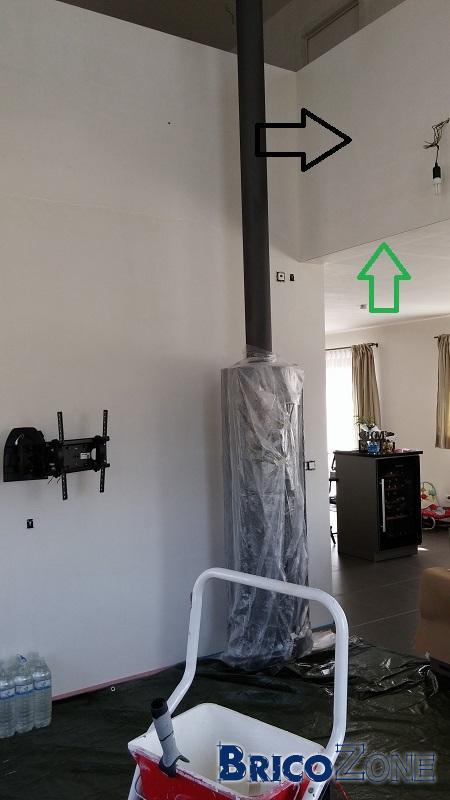 Cr�er cloison acoustique sur mur existant