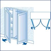 placard niche fermer avec 2 portes battantes. Black Bedroom Furniture Sets. Home Design Ideas
