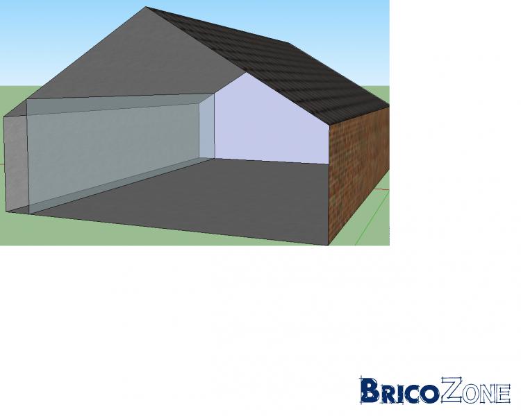 Pose gyproc et isolation sur un mur mais toiture inclinée