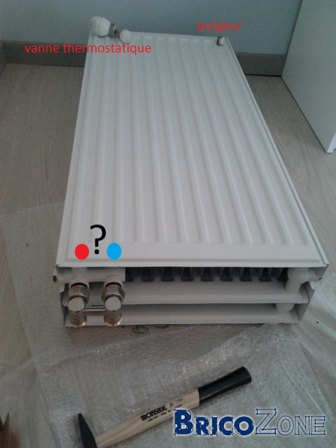Sens arriv e et retour radiateur - Radiateur froid en bas ...