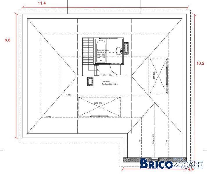 Rehausse / Sur�l�vation toiture-�tage > OB toit plat
