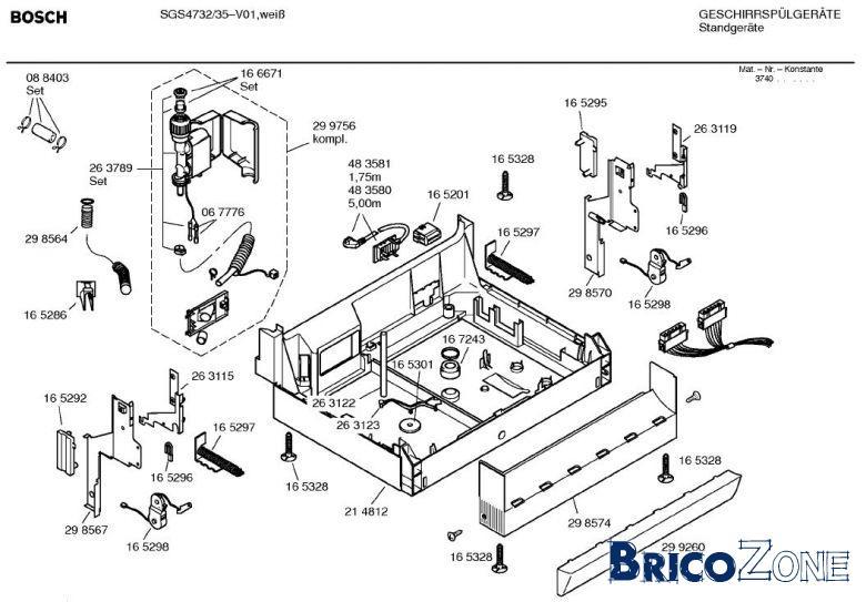 demonter lave vaisselle bosch maison design. Black Bedroom Furniture Sets. Home Design Ideas