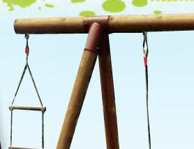 Section de bois pour module jeux extérieur
