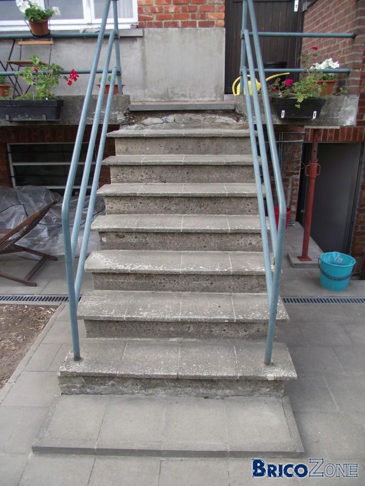 rénover escalier béton extérieur