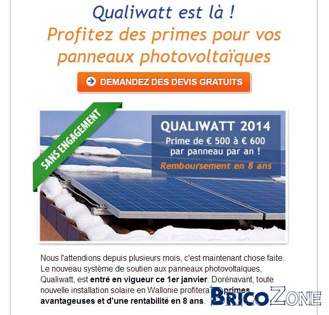 Le plan Qualiwatt adopté par le gouvernement wallon