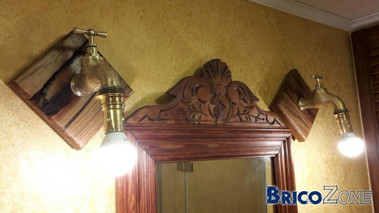 section cablage applique lumineuse artisanale