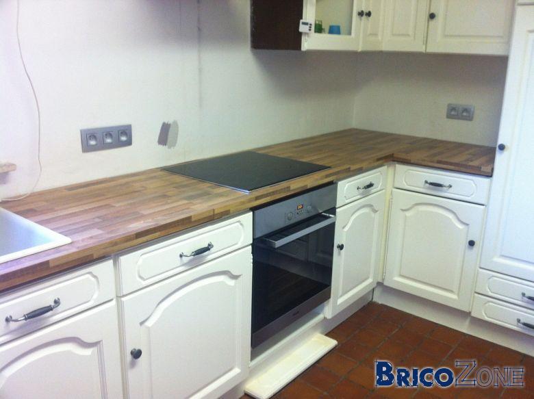 Peindre une cuisine en chene for Peindre plan de travail cuisine