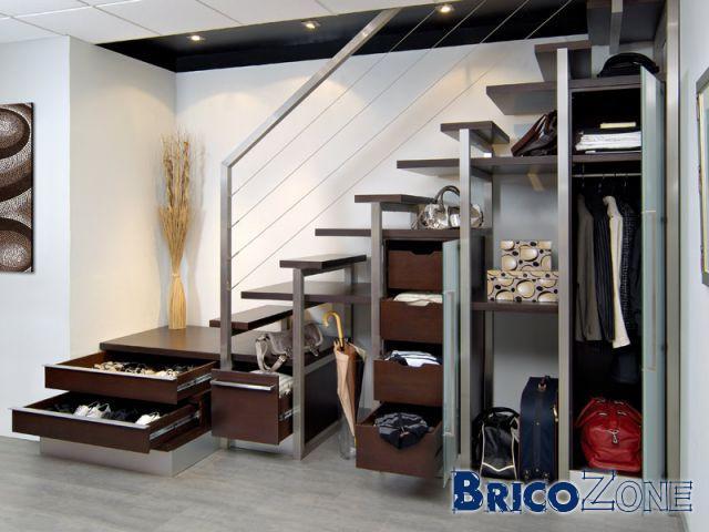 idees rangements sous escaliers. Black Bedroom Furniture Sets. Home Design Ideas
