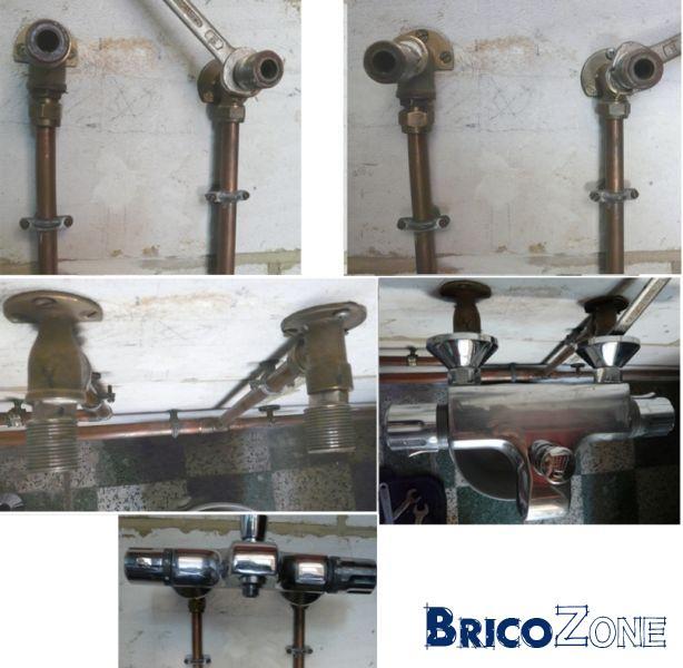 Fuite raccords et robinet thermostatique mitigeur grohe - Demonter robinet thermostatique douche ...